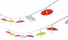 Lichterkette Regenschirme - Solar-Lichterkette für den Garten - 20 LEDs - Bunt - Länge ca. 300 cm