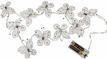 Lichterkette Schmetterling mit Glitter 10 LED
