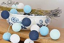 Lichterkette Textil Ball Girlande Lampions Big