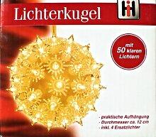 Lichterkugel Leuchtkugel Leuchtball mit 50 Lämpchen, Weihnachtsdeko, Winterdeko, Partydeko