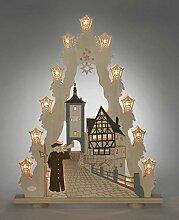 Lichterspitze Rothenburg 15 flammig hergestellt im Erzgebirge - Der Lichterbogen aus dem Erzgebirge ist eine wunderschöne Dekoration für Weihnachten