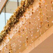Lichtervorhang 300 LED 3x1,4 m warmweiss