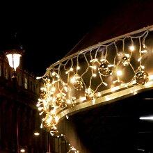 Lichtervorhang Flashlight 150 LED 3x0,7 m warmw.
