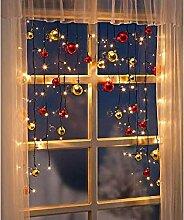 Lichtervorhang Kugeln Fensterdeko