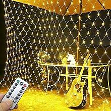 Lichtervorhang Netz, Fensterdeko Weihnachten 3M X