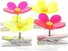 Lichtfänger 4er Set Blume bunt Dekoklammer Sonnenfänger