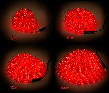 Lichtschlauch für innen und außen, rotes Licht,