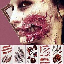 LICHUXIN Halloween Horror Gesicht Aufkleber,