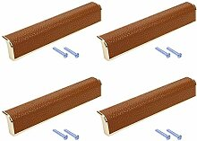 LICTOP Moderner brauner Leder-Möbelgriff mit