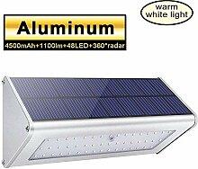 Licwshi 1100 Lm Solarleuchten 48 LED 4500mAh mit