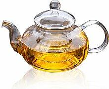 Lida–600ml doppelwandiges Glas Teekanne