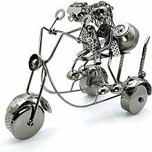 Liebe auf einem Motorrad Metall Wein