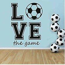 Liebe Das Fußball Fußballspiel Wandkunst