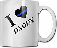 Liebe dünne blaue Mode Kaffeetasse Porzellan
