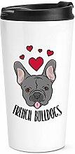 Liebe Französische Bulldoggen Reise Becher