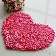 Liebe - geformte Teppich Tür Matten Schlafzimmer Matten Tür Anti - Rutsch - Pads , pink , 50*60cm