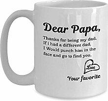 Lieber Papa,danke,dass du mein Vater bist,der