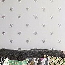 Liebes Herzen Muster Schablone Mädchen Kinderzimmer Haus Wand Dekorieren & Basteln Schablone Farbe Wände Stoffe & Möbel 190 Mylar wiederverwendbar Schablone