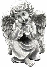Liebevolle Engel Figur aus Steinguss Gartenfigur