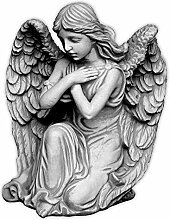 Liebevolle Engel Figur Gartenfigur aus Steinguss