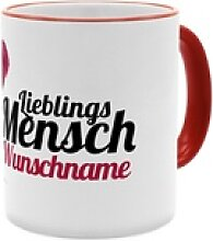 Lieblingsmensch - Personalisierter Kaffeebecher