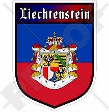 LIECHTENSTEIN Fürstentum Schild 100mm Auto &