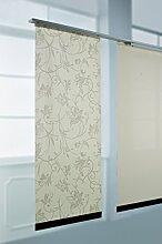 Liedeco Flächenvorhang, Schiebevorhang Natur   60 x 245 cm   Dekor, Uni - Beige (Dekor Beige)