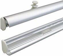 Liedeco Klappbarer Paneelwagen für Flächenvorhangstoffe, Schiebevorhang inkl. Beschwerung   1 Stück - alumium   60 cm