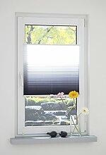 Liedeco® Klemmfix Plissee Farbverlauf verspannt inkl. Klemmträger /Breite x Höhe: 75 x 130 cm / Farbe: Grau / Plissee farbig zum Klemmen fürs Fenster / Sonnenschutz und Fensterdekoration innen / lichtdurchlässig und verstellbar / Innen-Montage ohne Bohren / 123 montiert / Falt-Plissee / Plissee-Rollo Sichtschutz Blendschutz