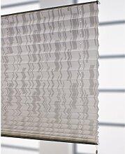 Liedeco® Klemmfix-Plissee freihängend inkl. Klemmträger - 80 x 175 cm weiß/weiß / Plissee farbig zum Klemmen fürs Fenster / Sonnenschutz und Fensterdekoration innen / lichtdurchlässig blickdicht und verstellbar / Innen-Montage ohne Bohren / 123 montiert / Falt-Plissee / Plissee-Rollo Sichtschutz Blendschutz