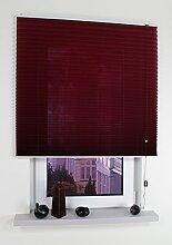 Liedeco® Klemmfix-Plissee freihängend inkl. Klemmträger - 80 x 175 cm bordeaux / Plissee farbig zum Klemmen fürs Fenster / Sonnenschutz und Fensterdekoration innen / lichtdurchlässig blickdicht und verstellbar / Innen-Montage ohne Bohren / 123 montiert / Falt-Plissee / Plissee-Rollo Sichtschutz Blendschutz