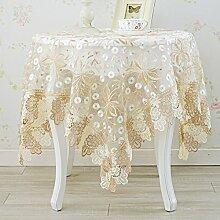 Lieder aus der Europäischen runden Tisch Blaue Blume Glas tee aus stoff - Pad tischdecken tischsets tuch couchtisch spitzen - tischdecke.