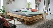 Liege Basiliano Massivholzbett stabil 140x200 cm