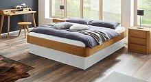 Liege Otavalo Bett mit Bettkasten 140x200 cm Eiche