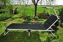 Liege, Sonnenliege mit Sonnendach Dach, PREMIUM