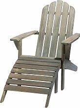 Liegestuhl aus Akazienholz, taupe Ontario
