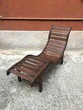 Liegestuhl aus Holz, 1960er