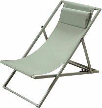 Liegestuhl aus Metall und kunststoffbeschichtetem