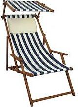 Liegestuhl blau-weiß Gartenliege Strandliege