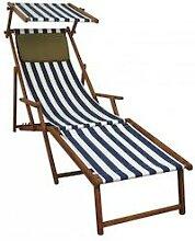 Liegestuhl blau-weiß Sonnenliege Strandstuhl
