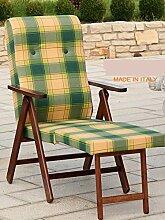 Liegestuhl MOLISANA aus Holz, faltbar, gepolstert,