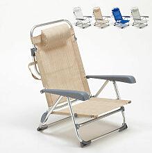 Liegestuhl Strandstuhl Klappbar mit Armlehne aus