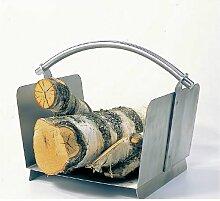 Lienbacher Holzkorb Edelstahl matt gebürstet H36xB47xT30 cm