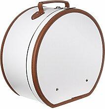 Lierys runder Hutkoffer Creme-weiß   Maße: 40 cm