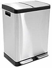 LIFA LIVING 2x 20l Mülleimer doppelt für Küche