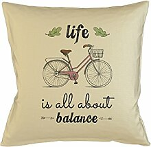 Life Is All About Balance Bicycle Schlafsofa Home