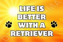 Life is better with a Retriever Hund–Jumbo