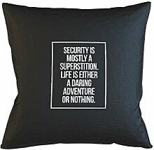 Life Is Either A Daring Adventure Or Nothing Motivational Kissenbezug Haus Sofa Bett Dekor Schwarz