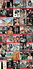 LIFE Magazine Covers Foto-Tapete 3-teilig Türposter - Fototapete Wallpaper 210x95cm. Beigelegt sind eine Packung Kleber und eine Klebeanleitung.