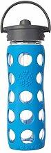 Lifefactory 15015 Glas -Trinkflasche 475ml, Straw